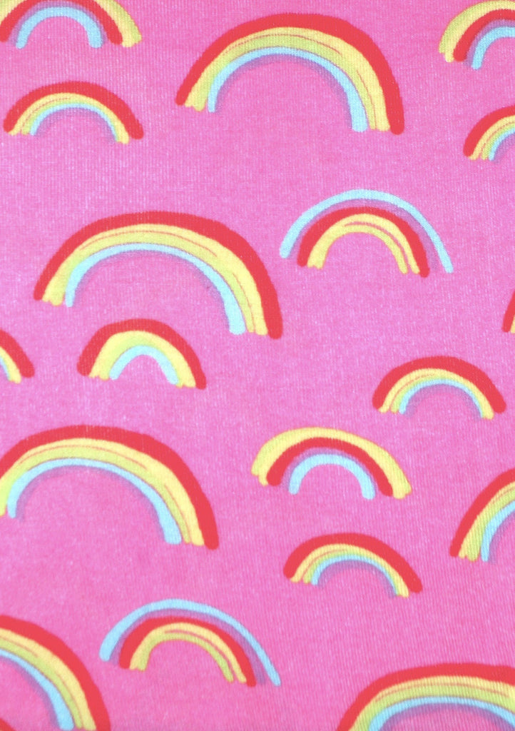 teeny rainbows long jane print