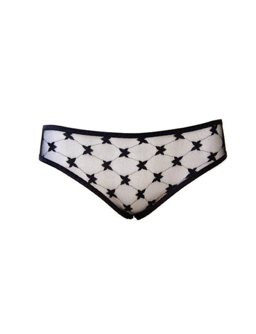 Retro Embroidery Brief