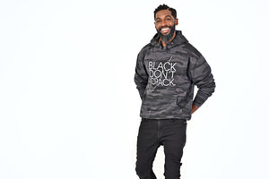Our 9 oz Camo logo Black Don't Crack hoodie is a classic fit sweatshirt. It has a roomy front kanga pocket, an adjustable drawstring hood to keep you warm and cozy. This signature overhead hoodie is made with soft but durable dual blend fabric.