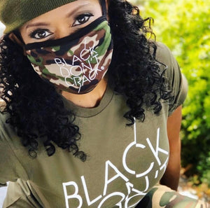 Reusable And Washable Black Don't Crack Camouflage Fabric Face-Mask