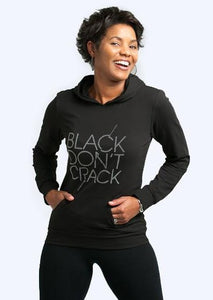 Black Don't Crack Women's Bling Lightweight Hoodie