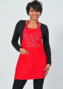 Black Don't Crack Bib Bling Apron