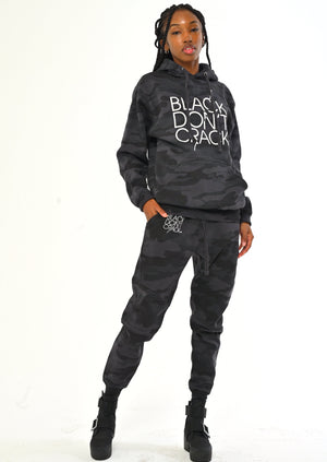 Black Don't Crack Grey/Black Camouflage Pullover Sweatshirt Hoodie