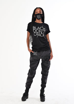 Black Don't Crack Slim-Fit Grey/Black Camouflage Jogger