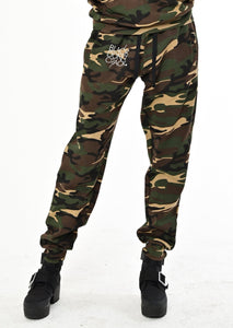 Black Don't Crack Slim-Fit Green Camouflage Jogger Pant