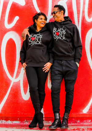 Black Don't Crack Heart Love Collection Pullover Hoodie