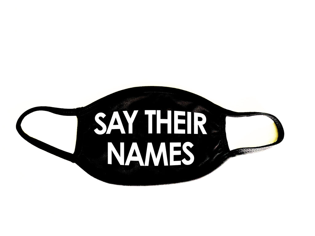 (Say Their Names) Black Reusable Fabric Face-Mask