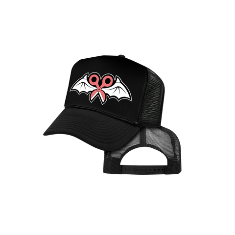 FU Cancer Trucker Hat in Black