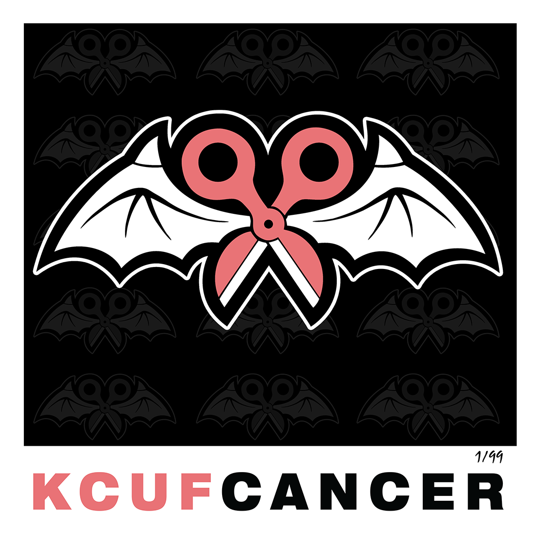 "Limited Edition KCUF CANCER 12"" x 12"" Signed Lithograph"
