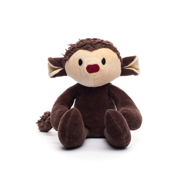Monkey Stuffed Toy Brown Plush Monkey Organic Monkey 12 Bears