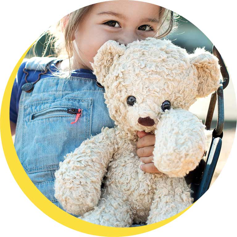 It's national teddy bear day. Give a Bear, Change a Life.