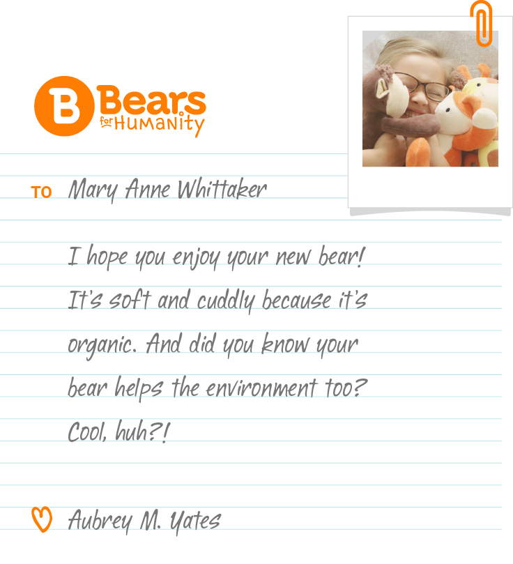 Send a Note with Bears For Humanity