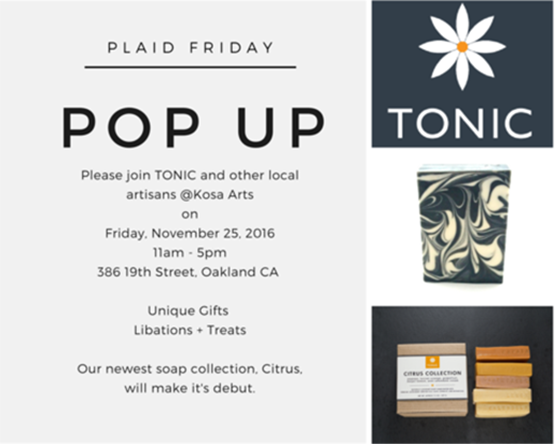 Plaid Friday Pop-Up in Oakland!
