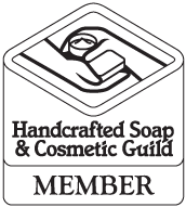 Handcrafted Soap & Cosmetic Guild Member Badge in black & white