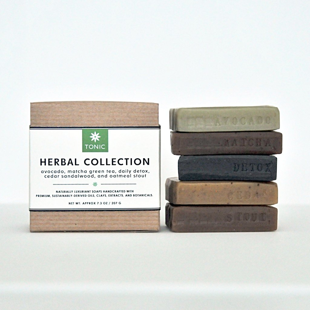 Herbal Sampler Mini Bar Soap Collection by TONIC