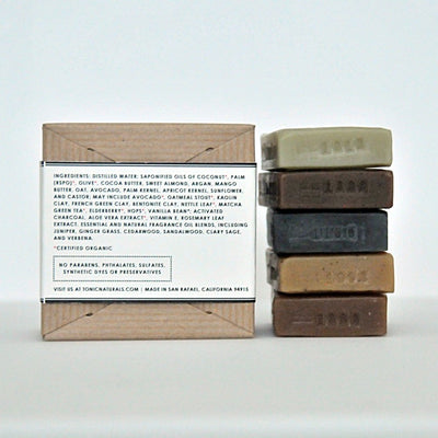 Herbal Sampler Mini Bar Soap Collection Ingredients