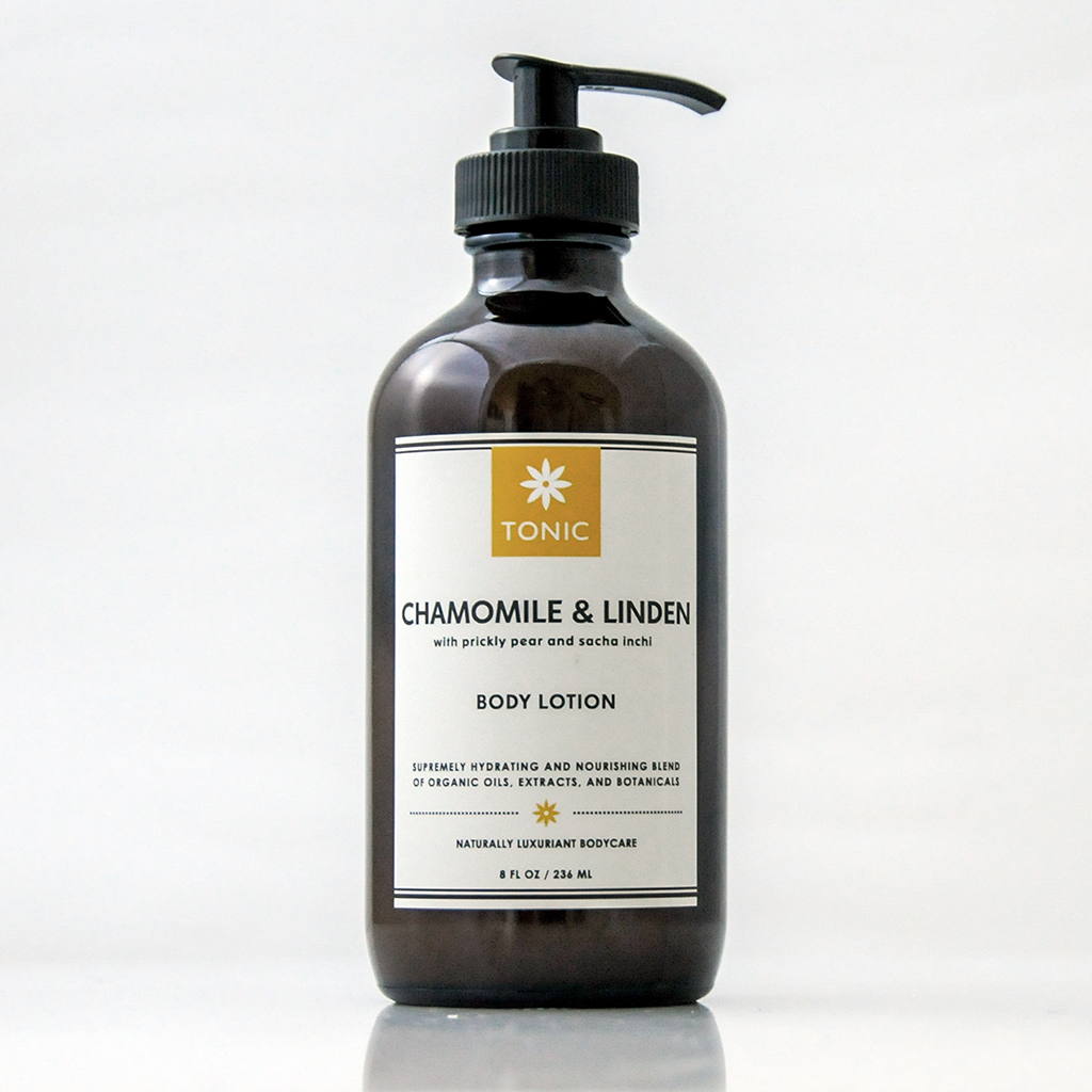 Chamomile Linden Body Lotion with Prickly Pear and Sacha Inchi
