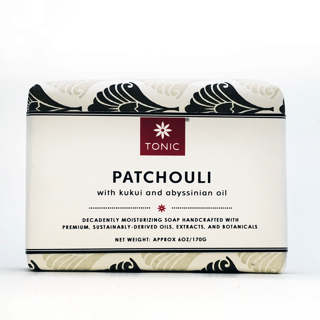 Patchouli bar soap with kukui and abyssinian oil
