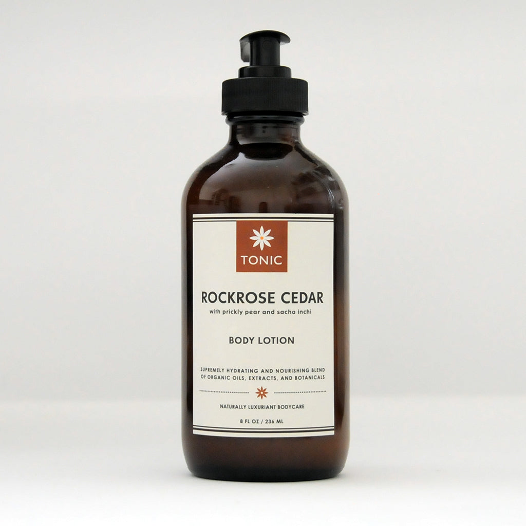 Rockrose Cedar Body Lotion with Prickly Pear and Sacha Inchi Oils by TONIC