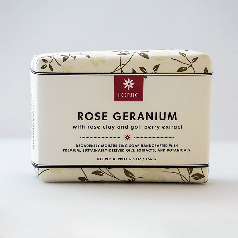 Rose Geranium Bar Soap by TONIC