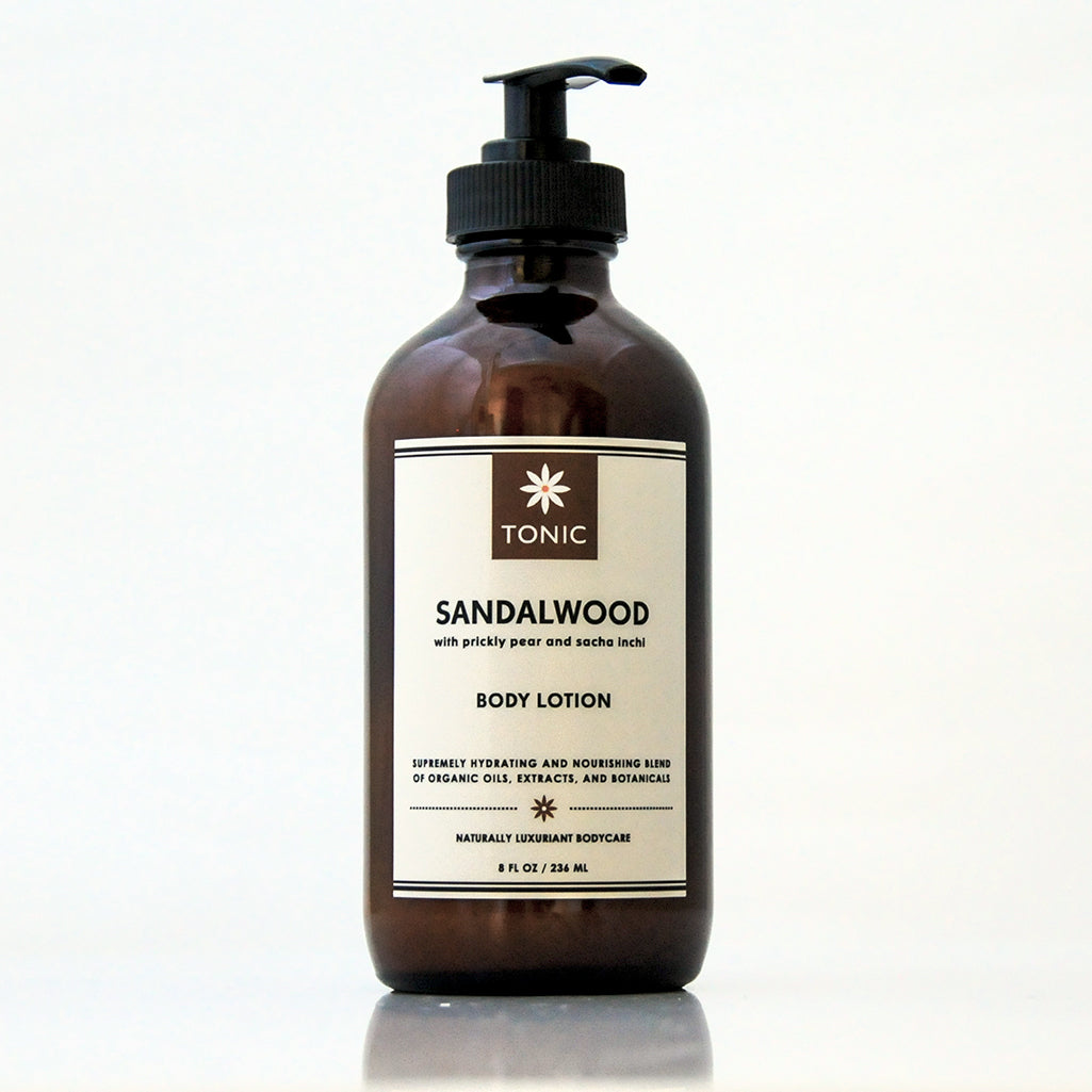 Sandalwood Body Lotion with Prickly Pear and Sacha Inchi Oils by TONIC