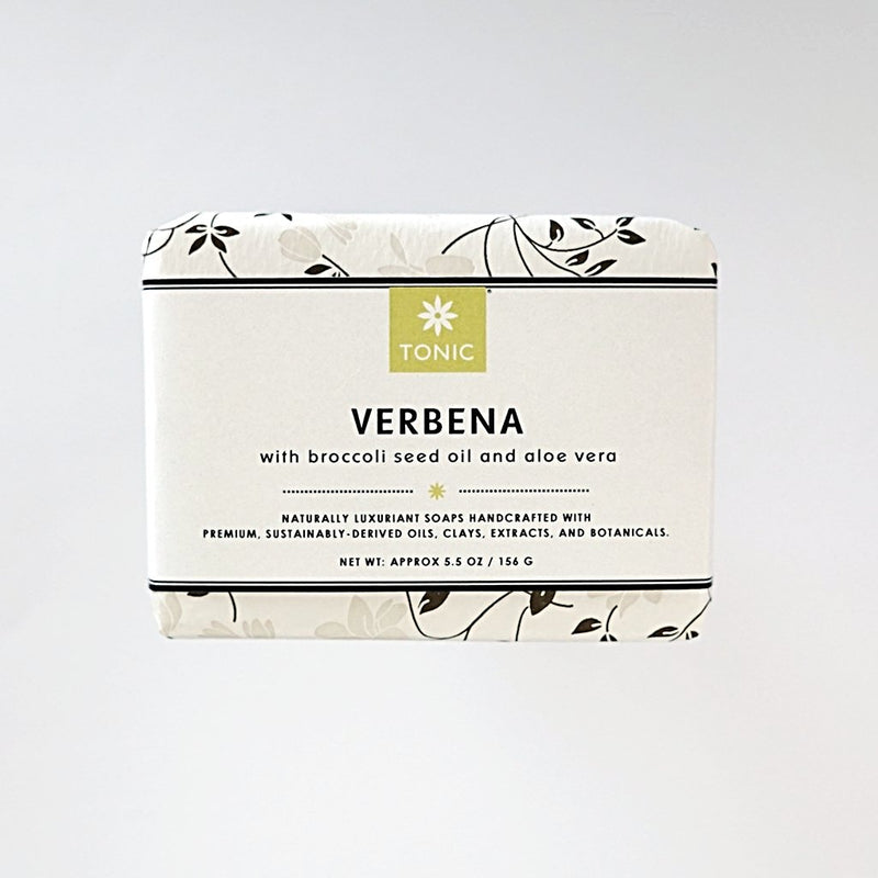 Verbena Bar Soap unwrapped