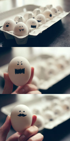 ghoulish hard boiled eggs