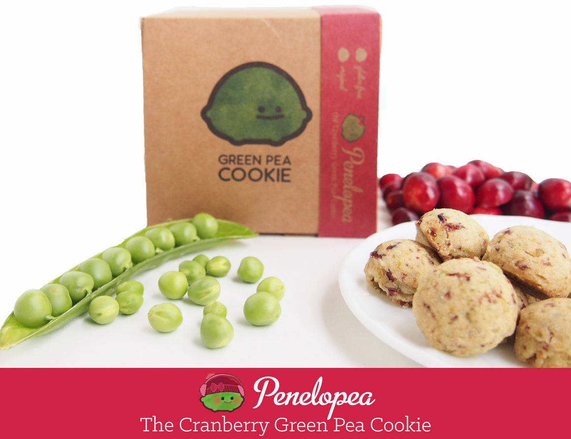 Penelopea the Cranberry Green Pea Cookie