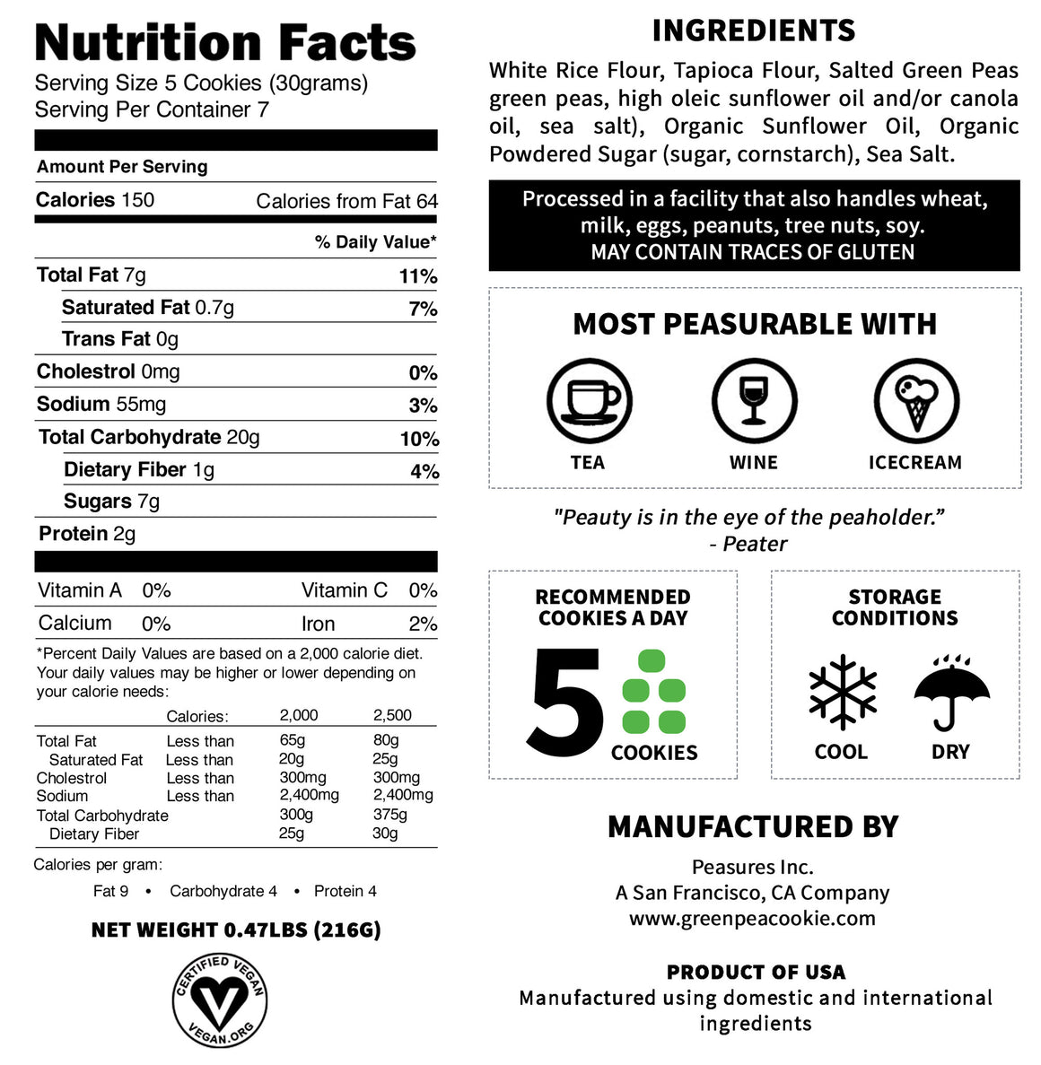 Nutrition Facts Of Peater Without Gluten