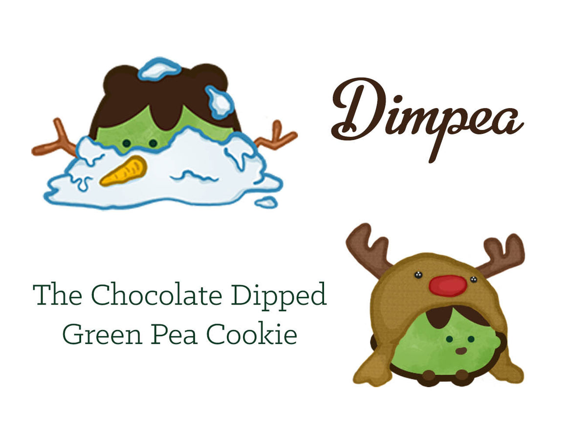 The Chocolate Dipped Green Pea Cookie