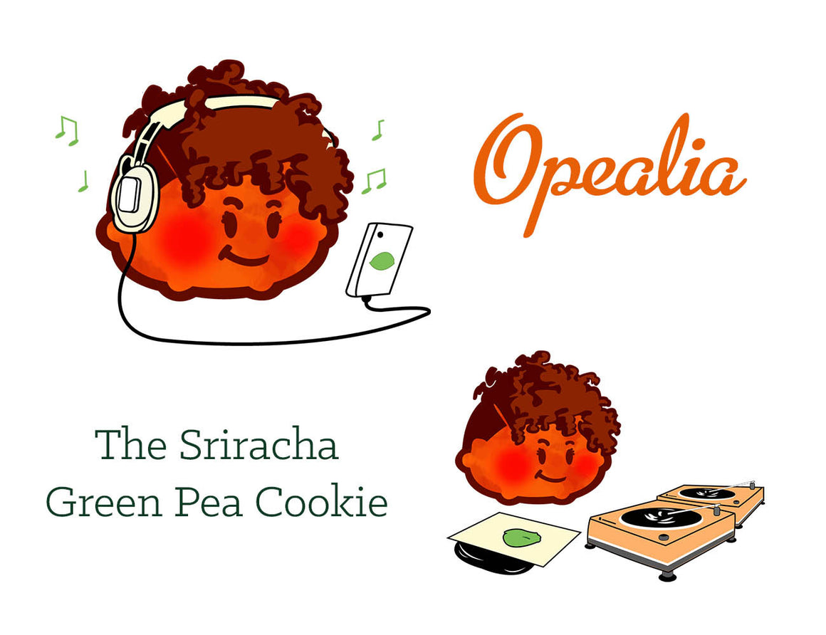 Opealia - The Sriracha Green Pea Cookie