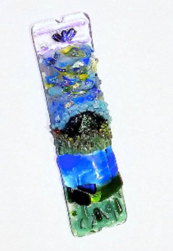 Blue Lake Turtle Mezuzah