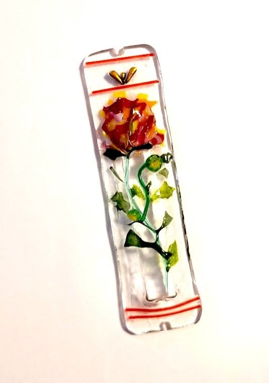 Blooming Rose Mezuzah