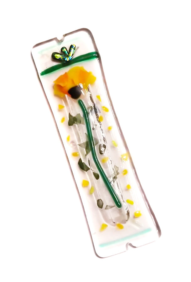 oriental golden poppy mezuzah
