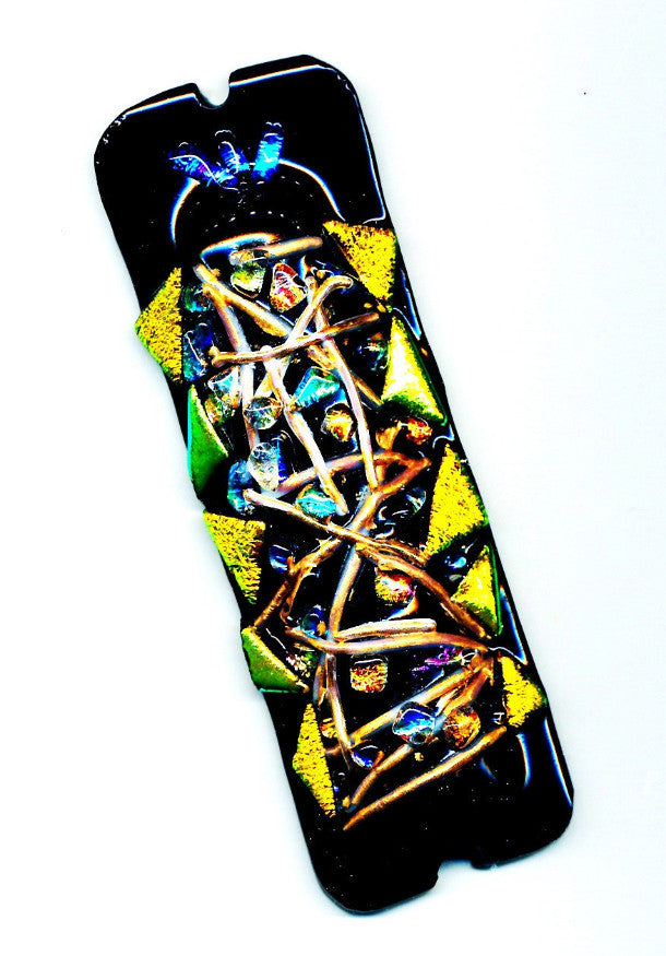 black and gold abulafiah mezuzah