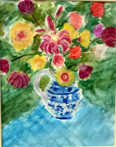 Watercolor: Delft Vase