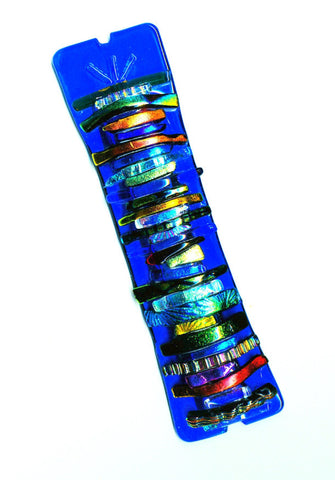 Electric Blue Mezuzah