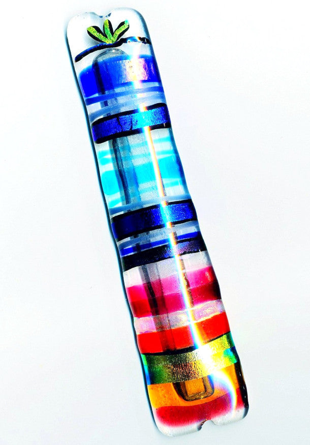 over the rainbow mezuzah