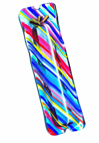 Summer Stripes Mezuzah