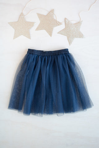 Gwyn Navy Tulle Skirt