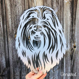Bearded Collie - Rustic Rusted Pet Garden Sculpture - Solid Steel