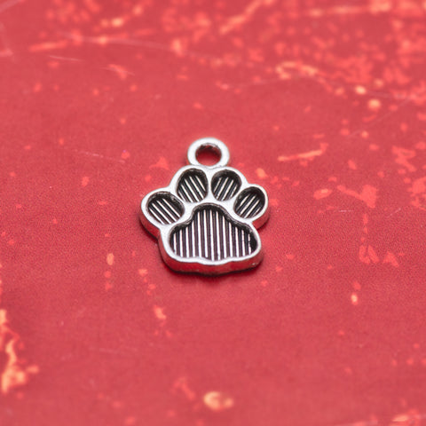 Add On Charm - Black Paw Imprint