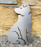 Border Collie (FULL BODY) Rustic Steel Sculpture