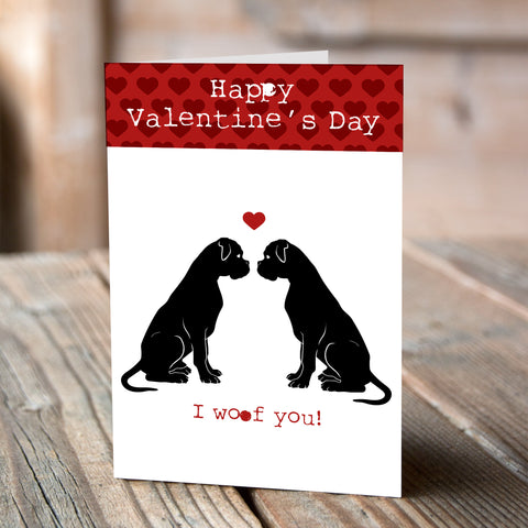 Boxer I Woof You - Valentine Card
