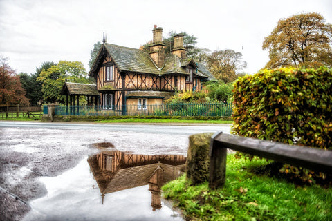 Puddle House Chatsworth Landscape Print