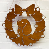 Cavalier King Charles Spaniel Festive Wreath - Rustic Festive Decoration - Solid Steel