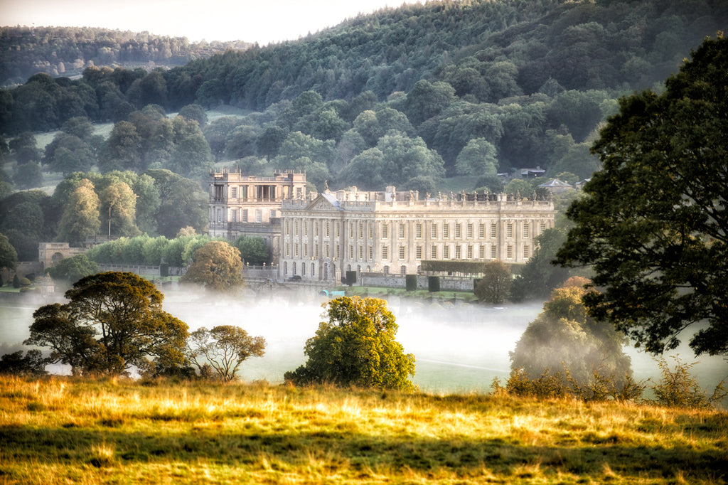 Chatsworth Dawn and The Misty Trees  Landscape Print