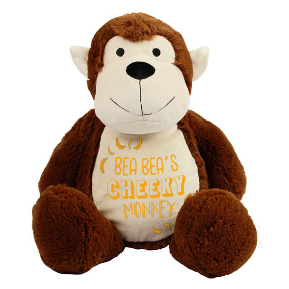 Cheeky Monkey - Personalised Wildlife Cuddlies