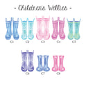 Welly Boot Family Large Glass Worktop Saver