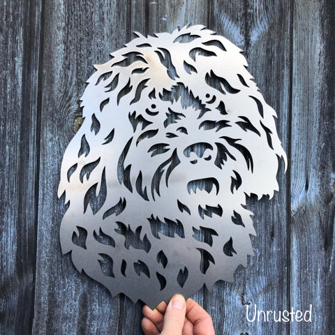 Cockapoo - Dog Sculpture - Solid Steel